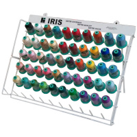 Best 50 Iris Smooth 'N Silky Rayon 1100 Yard Mini King Cones with Rack THUMBNAIL