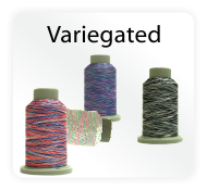 Affinity Polyester Variegated Embroidery Thread & Quilting Thread by Filtec Bobbin Central 1000 yds