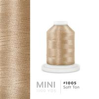 Soft Tan # 1005 Iris Polyester Embroidery Thread - 1100 Yds THUMBNAIL