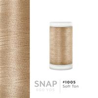 Soft Tan # 1005 Iris Polyester Embroidery Thread - 600 Yd Snap Spool THUMBNAIL