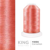 Carnation # 1006 Iris Trilobal Polyester Machine Embroidery & Quilting Thread - 5500 Yds THUMBNAIL