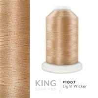 Light Wicker # 1007 Iris Trilobal Polyester Machine Embroidery & Quilting Thread - 5500 Yds THUMBNAIL