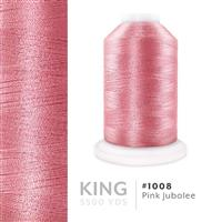 Pink Jubalee # 1008 Iris Trilobal Polyester Machine Embroidery & Quilting Thread - 5500 Yds THUMBNAIL