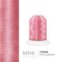 Pink Jubalee # 1008 Iris Polyester Embroidery Thread - 1100 Yds THUMBNAIL