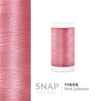 Pink Jubalee # 1008 Iris Polyester Embroidery Thread - 600 Yd Snap Spool THUMBNAIL