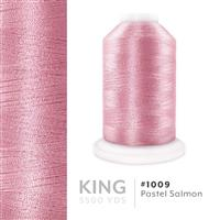 Pastel Salmon # 1009 Iris Trilobal Polyester Machine Embroidery & Quilting Thread - 5500 Yds THUMBNAIL