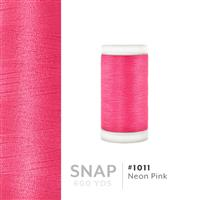 Neon Pink # 1011 Iris Polyester Embroidery Thread - 600 Yd Snap Spool THUMBNAIL