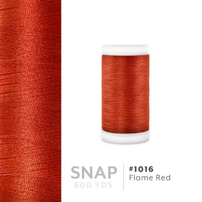 Flame Red # 1016 Iris Polyester Embroidery Thread - 600 Yd Snap Spool MAIN