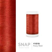 Foxy Red # 1018 Iris Polyester Embroidery Thread - 600 Yd Snap Spool THUMBNAIL