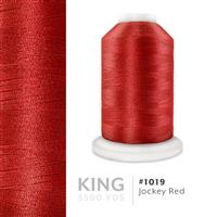 Jockey Red # 1019 Iris Trilobal Polyester Machine Embroidery & Quilting Thread - 5500 Yds THUMBNAIL