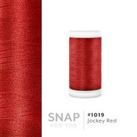 Jocky Red # 1019 Iris Polyester Embroidery Thread - 600 Yd Snap Spool THUMBNAIL