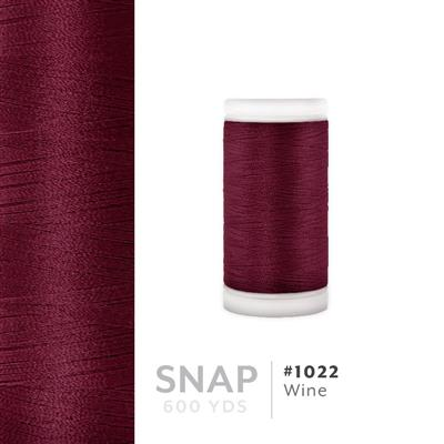 Wine # 1022 Iris Polyester Embroidery Thread - 600 Yd Snap Spool MAIN