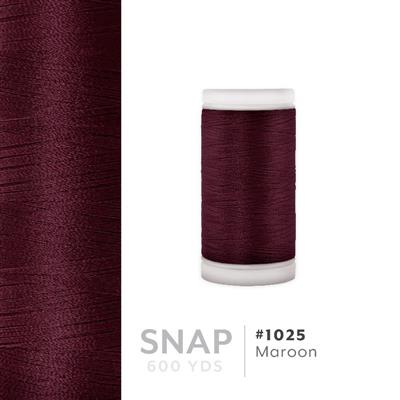 Maroon # 1025 Iris Polyester Embroidery Thread - 600 Yd Snap Spool MAIN