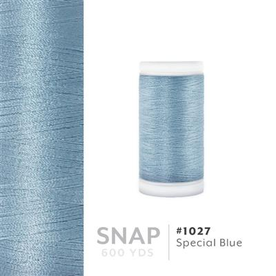 Special Blue # 1027 Iris Polyester Embroidery Thread - 600 Yd Snap Spool MAIN