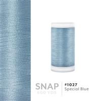 Special Blue # 1027 Iris Polyester Embroidery Thread - 600 Yd Snap Spool THUMBNAIL