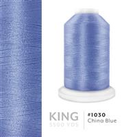 China Blue # 1030 Iris Trilobal Polyester Thread - 5500 Yds THUMBNAIL