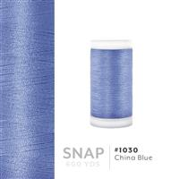 China Blue # 1030 Iris Polyester Embroidery Thread - 600 Yd Snap Spool THUMBNAIL