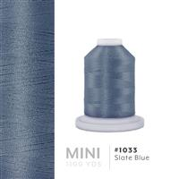 Slate Blue # 1033 Iris Polyester Embroidery Thread - 1100 Yds THUMBNAIL