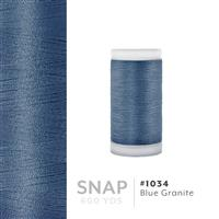 Blue Granite # 1034 Iris Polyester Embroidery Thread - 600 Yd Snap Spool THUMBNAIL