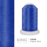 Flipper Blue # 1036 Iris Trilobal Polyester Machine Embroidery & Quilting Thread - 5500 Yds THUMBNAIL