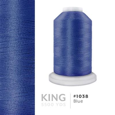 Blue # 1038 Iris Trilobal Polyester Thread - 5500 Yds MAIN
