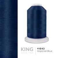 Imperial Blue # 1042 Iris Trilobal Polyester Machine Embroidery & Quilting Thread - 5500 Yds THUMBNAIL