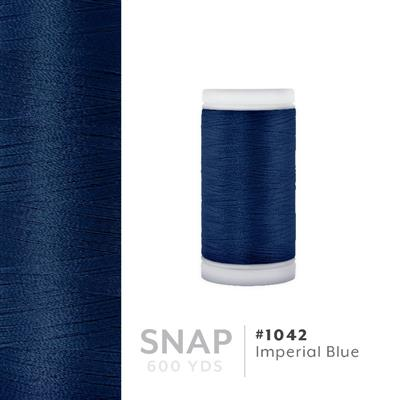 Imperial Blue # 1042 Iris Polyester Embroidery Thread - 600 Yd Snap Spool MAIN