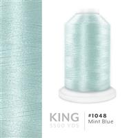 Mint Blue # 1048 Iris Trilobal Polyester Machine Embroidery & Quilting Thread - 5500 Yds THUMBNAIL
