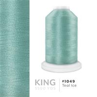 Teal Ice # 1049 Iris Trilobal Polyester Machine Embroidery & Quilting Thread - 5500 Yds THUMBNAIL