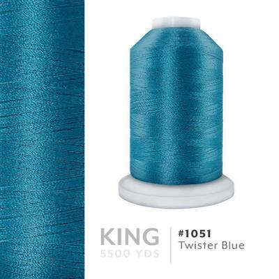 Twister Blue # 1051 Iris Trilobal Polyester Thread - 5500 Yds MAIN