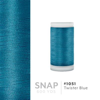 Twister Blue # 1051 Iris Polyester Embroidery Thread - 600 Yd Snap Spool MAIN