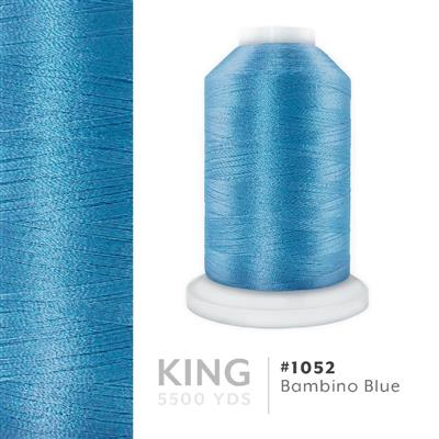 Bambino Blue # 1052 Iris Trilobal Polyester Thread - 5500 Yds MAIN