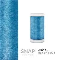 Bambino Blue # 1052 Iris Polyester Embroidery Thread - 600 Yd Snap Spool THUMBNAIL