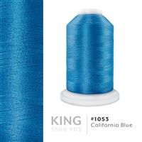 California Blue # 1053 Iris Trilobal Polyester Machine Embroidery & Quilting Thread - 5500 Yds THUMBNAIL