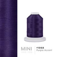 Purple Accent # 1068 Iris Polyester Embroidery Thread - 1100 Yds THUMBNAIL