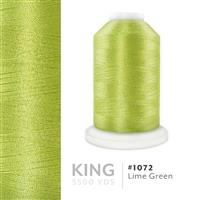 Lime Green # 1072 Iris Trilobal Polyester Machine Embroidery & Quilting Thread - 5500 Yds THUMBNAIL
