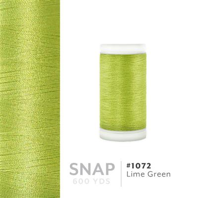 Lime Green # 1072 Iris Polyester Embroidery Thread - 600 Yd Snap Spool MAIN