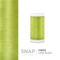 Lime Green # 1072 Iris Polyester Embroidery Thread - 600 Yd Snap Spool THUMBNAIL