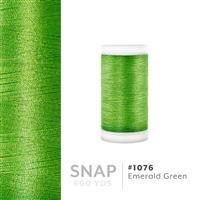 Emerald Green # 1076 Iris Polyester Embroidery Thread - 600 Yd Snap Spool THUMBNAIL