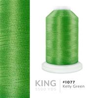 Kelly Green # 1077 Iris Trilobal Polyester Machine Embroidery & Quilting Thread - 5500 Yds THUMBNAIL