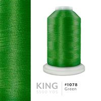Green # 1078 Iris Trilobal Polyester Machine Embroidery & Quilting Thread - 5500 Yds THUMBNAIL