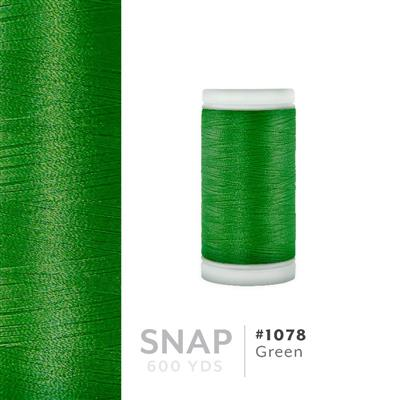 Green # 1078 Iris Polyester Embroidery Thread - 600 Yd Snap Spool MAIN