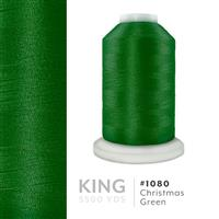 Xmas Green # 1080 Iris Trilobal Polyester Machine Embroidery & Quilting Thread - 5500 Yds THUMBNAIL