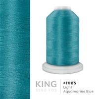 Lt. Aquamarine Blue # 1085 Iris Trilobal Polyester Machine Embroidery & Quilting Thread - 5500 Yds THUMBNAIL