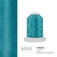 Lt. Aquamarine Blue # 1085 Iris Polyester Embroidery Thread - 1100 Yds THUMBNAIL