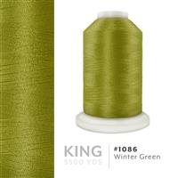 Winter Green # 1086 Iris Trilobal Polyester Machine Embroidery & Quilting Thread - 5500 Yds THUMBNAIL