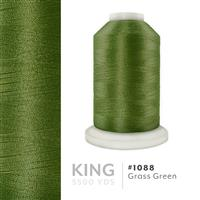 Grass Green # 1088 Iris Trilobal Polyester Machine Embroidery & Quilting Thread - 5500 Yds THUMBNAIL