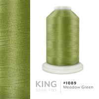 Meadow Green # 1089 Iris Trilobal Polyester Machine Embroidery & Quilting Thread - 5500 Yds THUMBNAIL