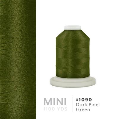 Dark Pine Green # 1090 Iris Polyester Embroidery Thread - 1100 Yds MAIN