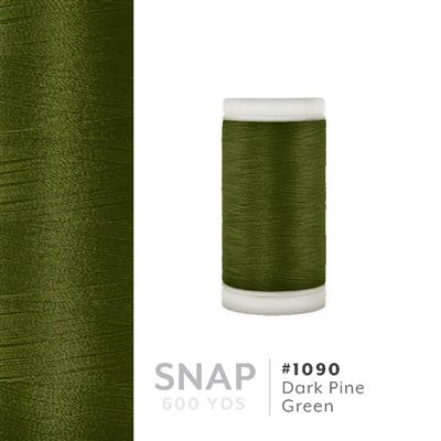 Dark Pine Green # 1090 Iris Polyester Embroidery Thread - 600 Yd Snap Spool MAIN